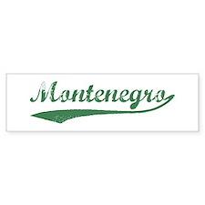 Vintage Montenegro (Green) Bumper Bumper Sticker