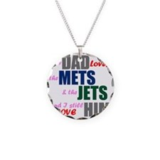 My Dad Loves the Mets & Jets Necklace