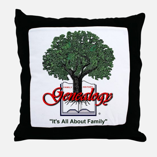 It's All About Family Throw Pillow