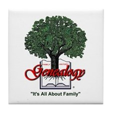 It's All About Family Tile Coaster