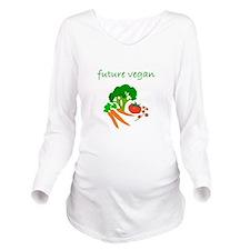 future vegan.bmp Long Sleeve Maternity T-Shirt
