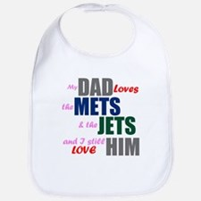 My Dad Loves the Mets & Jets Bib
