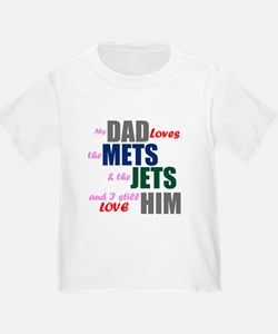 My Dad Loves the Mets & Jets T-Shirt