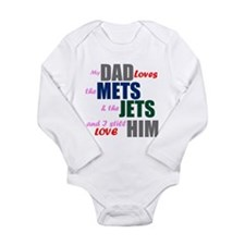 My Dad Loves the Mets & Jets Body Suit