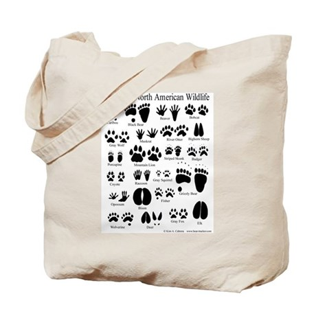 Animal Tracks Tote Bag