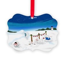 Christmas Bunny Stockings (twxtw) Ornament