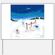 Christmas Bunny Stockings (twxtw) Yard Sign