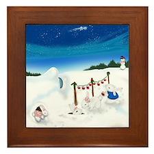 Christmas Bunny Stockings (twxtw) Framed Tile