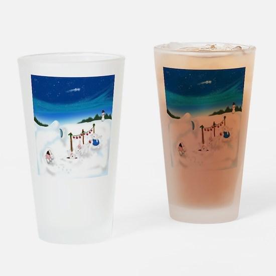 Christmas Bunny Stockings (twxtw) Drinking Glass