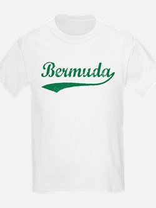 Vintage Bermuda (Green) Kids T-Shirt