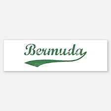 Vintage Bermuda (Green) Bumper Bumper Bumper Sticker