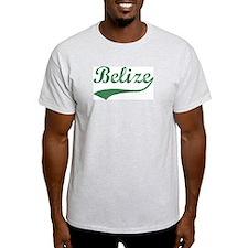 Vintage Belize (Green) Ash Grey T-Shirt