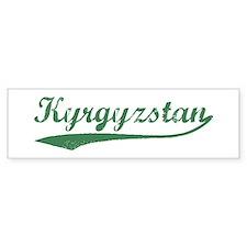 Vintage Kyrgyzstan (Green) Bumper Bumper Bumper Sticker