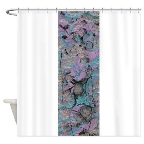lavender abstract shower curtain by vividperceptions
