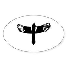 Flying Magpie Oval Decal