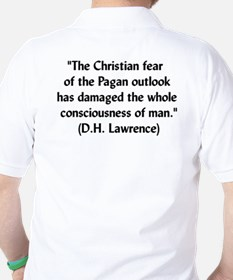 DH Lawrence Pagan Quote T-Shirt