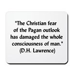 DH Lawrence Pagan Quote Mousepad