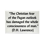 DH Lawrence Pagan Quote Rectangle Magnet (10 pack)