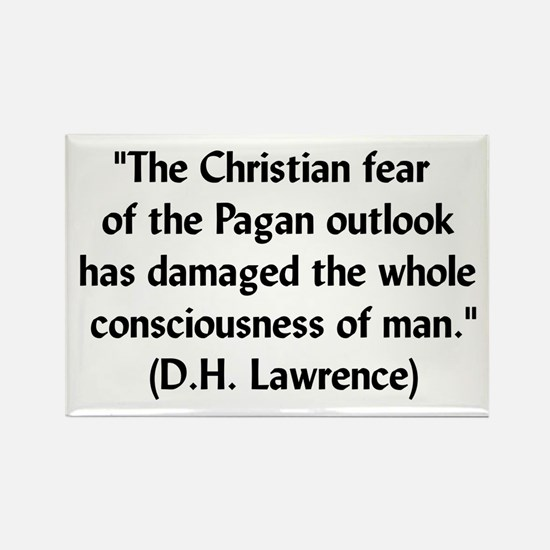 DH Lawrence Pagan Quote Rectangle Magnet