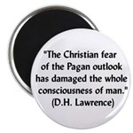DH Lawrence Pagan Quote Magnet