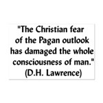 DH Lawrence Pagan Quote Mini Poster Print