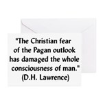 DH Lawrence Pagan Quote Greeting Cards (Package of