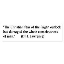 DH Lawrence Pagan Quote Bumper Bumper Sticker