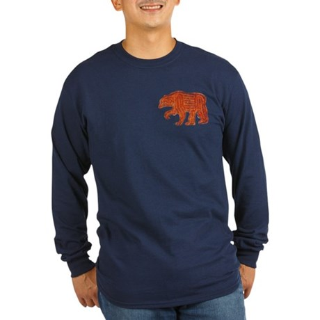 FURRY BEAR 3 Long Sleeve Dark T-Shirt