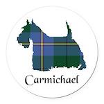 Terrier - Carmichael Round Car Magnet