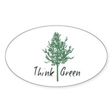Think Green Tree Decal