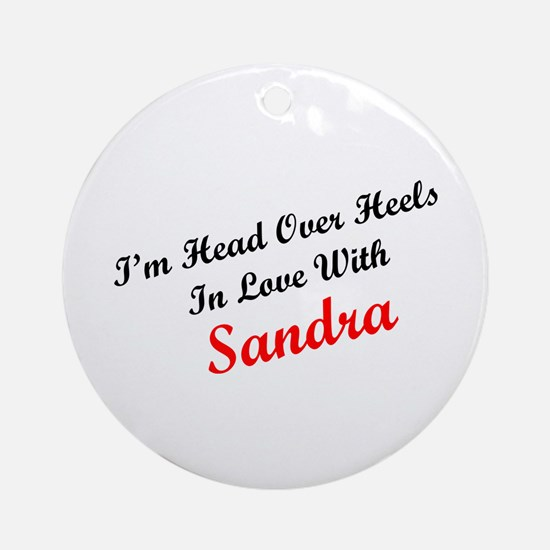 In Love with Sandra Ornament (Round)