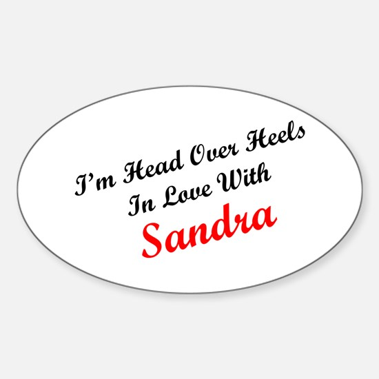 In Love with Sandra Oval Decal