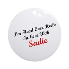 In Love with Sadie Ornament (Round)
