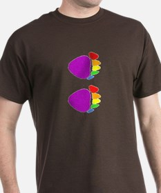 RAINBOW BEAR PAW @ VERTICAL PAWS_ DARK T-Shirt