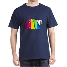 MULTI COLORED ABSTRACT BEAR DARK T-Shirt