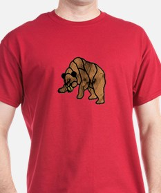RUST LT BEAR MOSAIC DARK T-Shirt