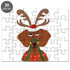 Dachshund Reindeer Puzzle