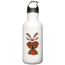 Dachshund Reindeer Water Bottle