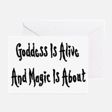 Goddess Is Alive Greeting Cards (Pk of 10)