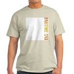 Baritone Sax Stamp Ash Grey T-Shirt