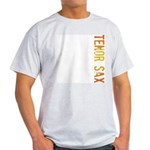 Tenor Sax Stamp Ash Grey T-Shirt