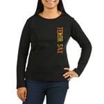 Tenor Sax Stamp Women's Long Sleeve Dark T-Shirt