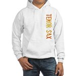 Tenor Sax Stamp Hooded Sweatshirt
