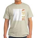 Alto Sax Stamp Ash Grey T-Shirt