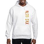Alto Sax Stamp Hooded Sweatshirt