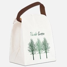Think Green Trees Canvas Lunch Bag