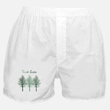 Think Green Trees Boxer Shorts