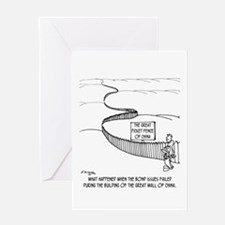 The Great Picket Fence of China Greeting Card