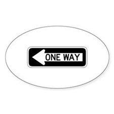 One Way Left - USA Oval Decal