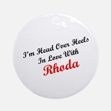 In Love with Rhoda Ornament (Round)